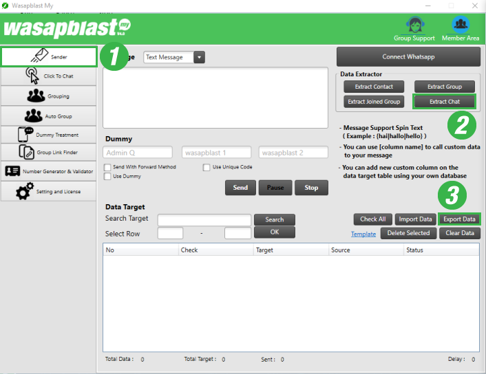 wasapblast-panduan-extract-chat